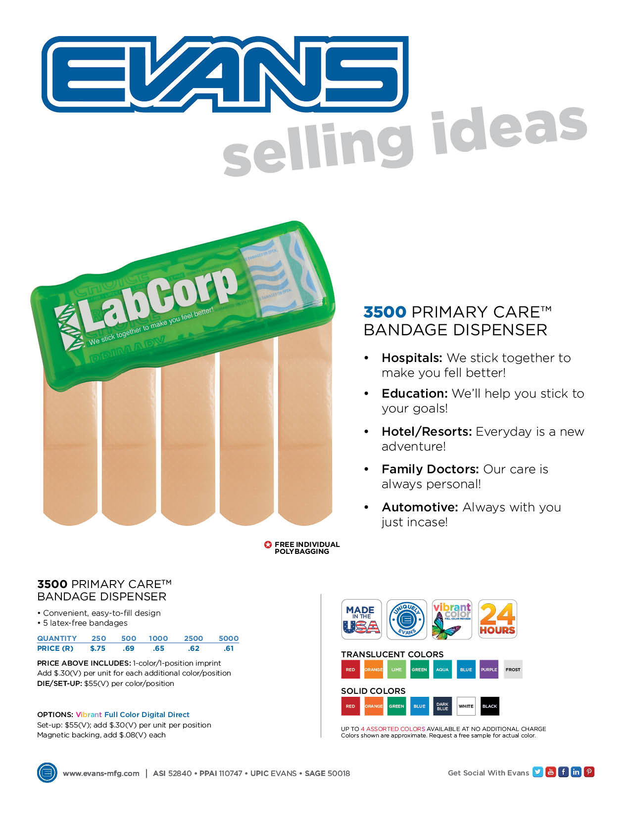 3500 - Primary Care™ Bandage Dispenser