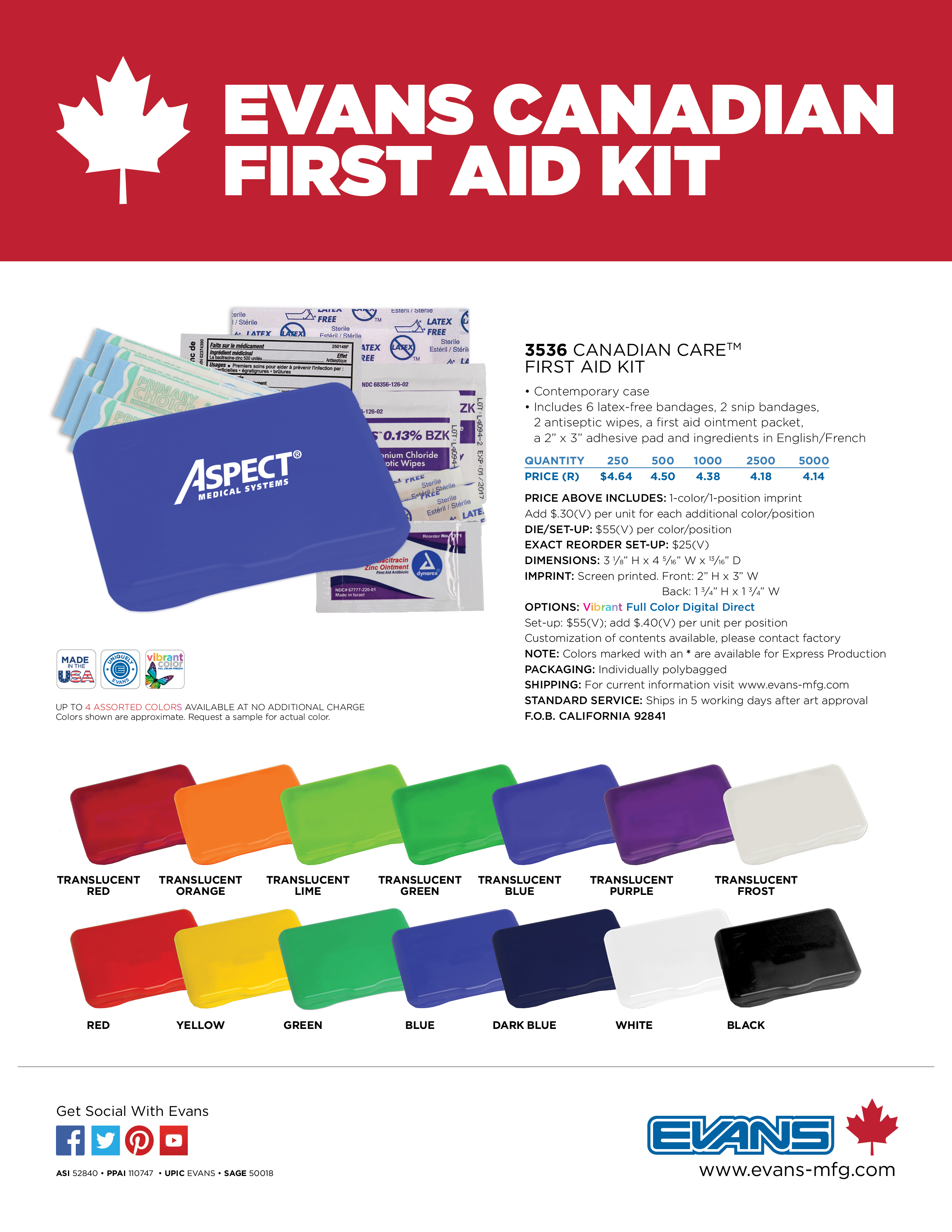 3536 Canadian Care™ First Aid Kit