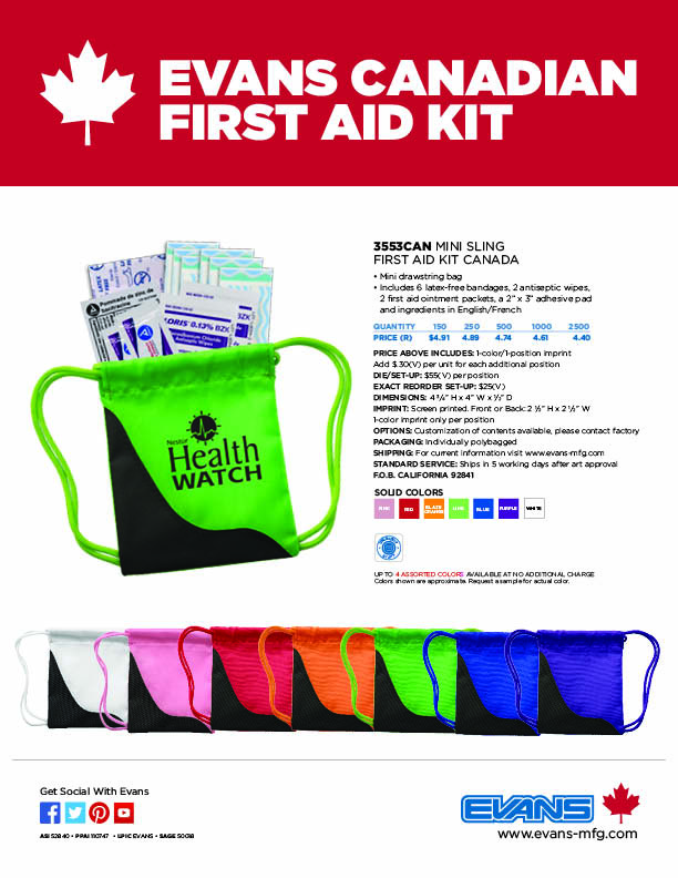 3553CAN Mini Sling First Aid Kit Canada