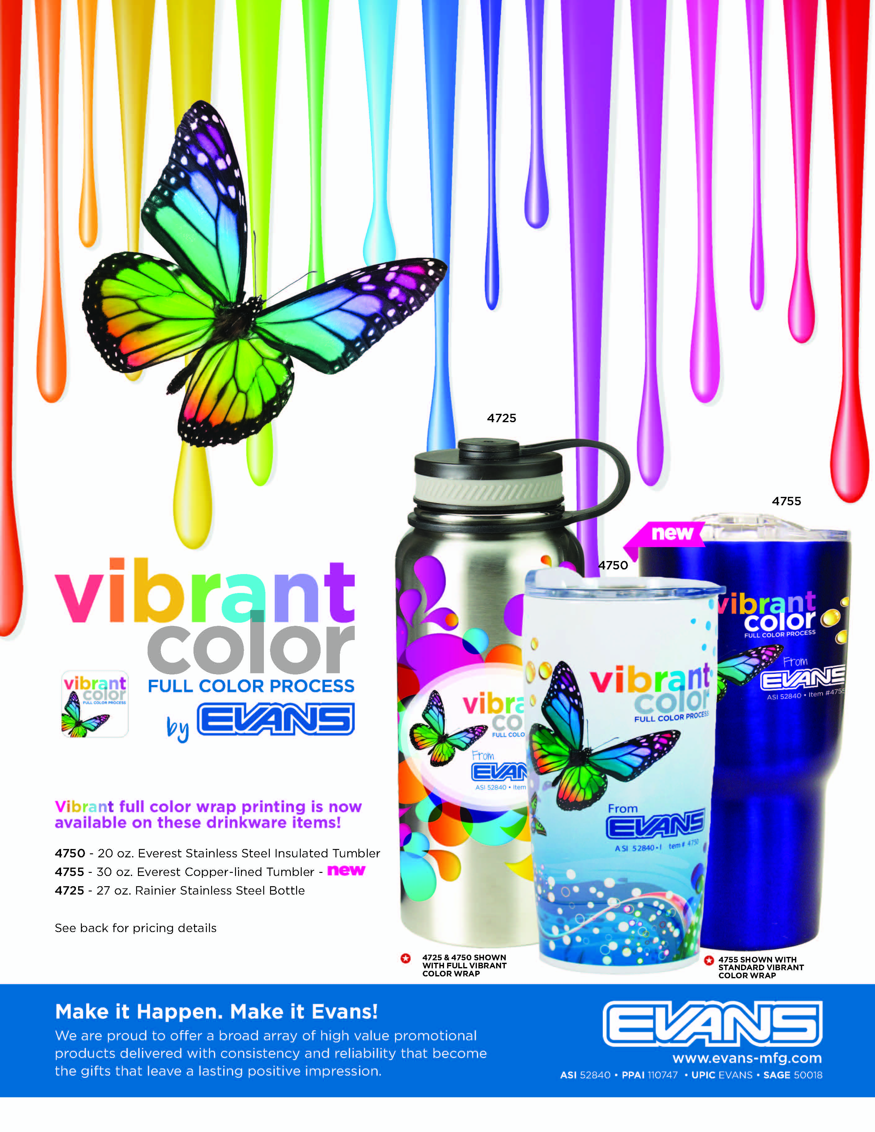 Vibrant Color Drinkware Flyer