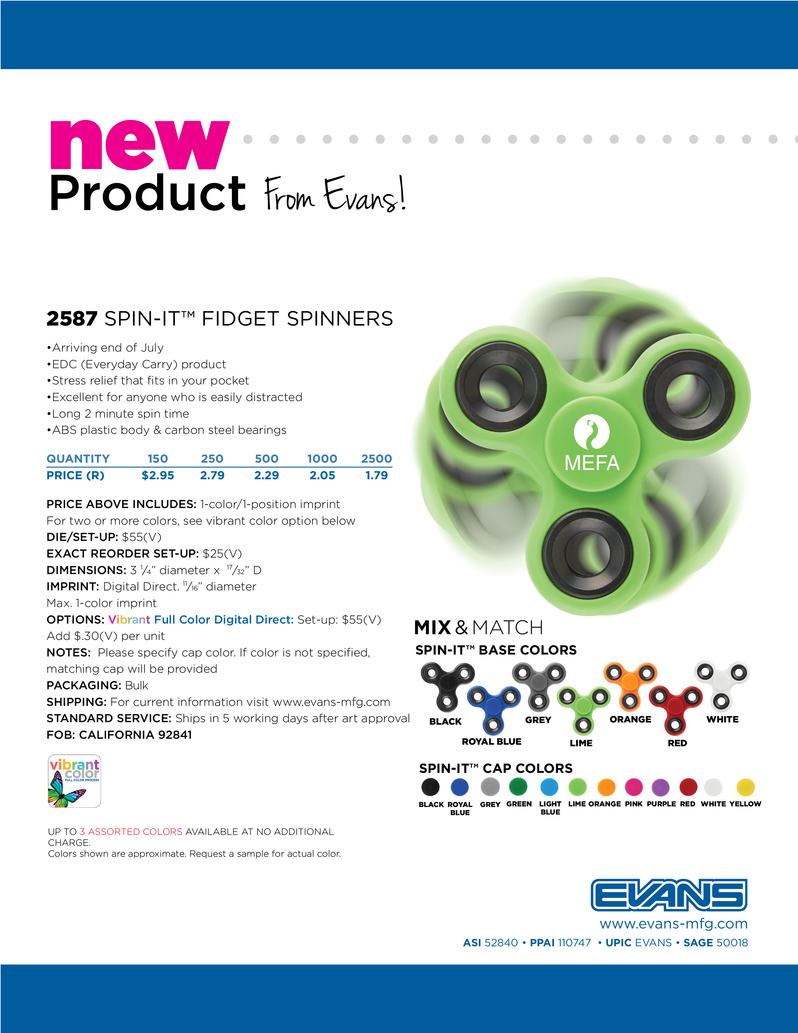 2587 Spin-It Fidget Spinner