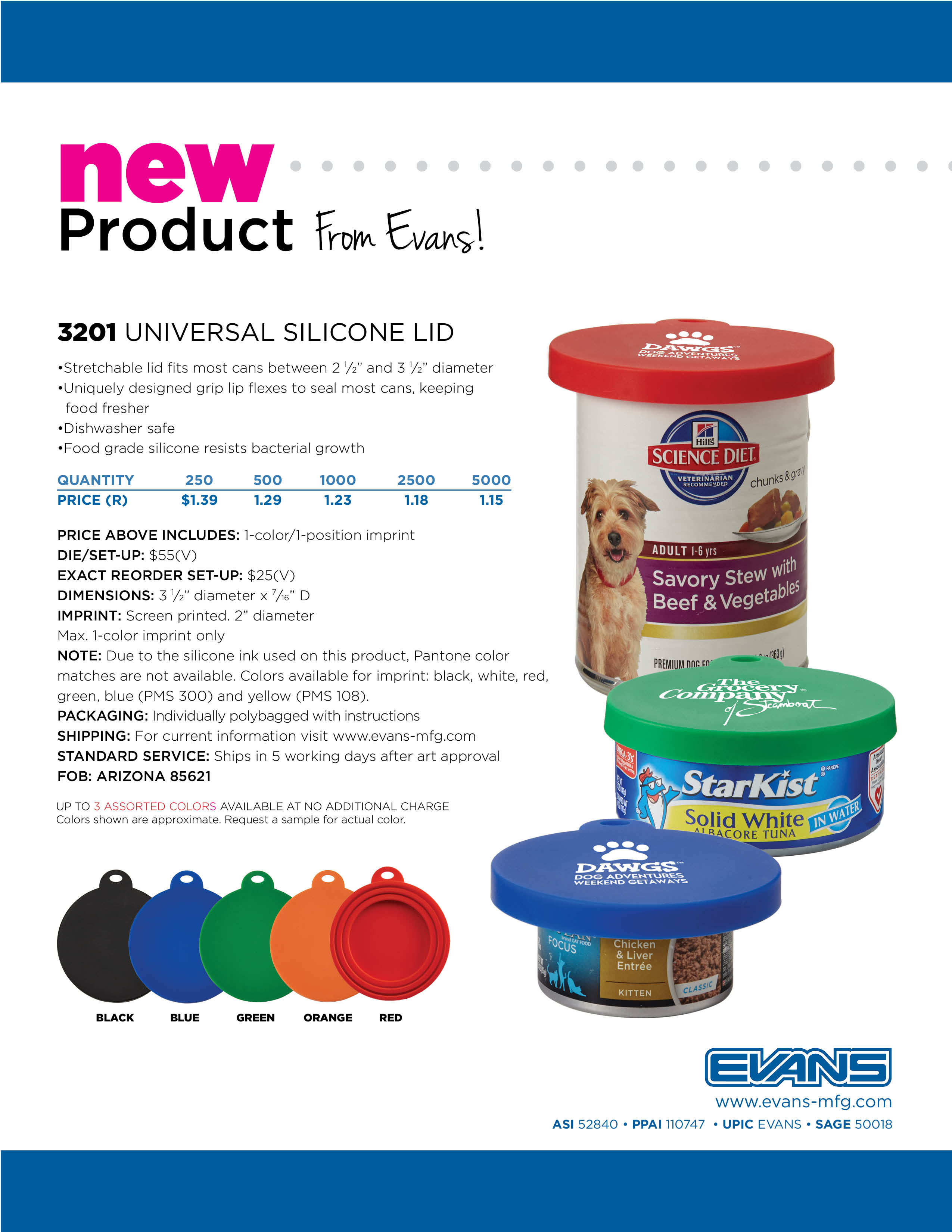3201 Universal Silicone Lid