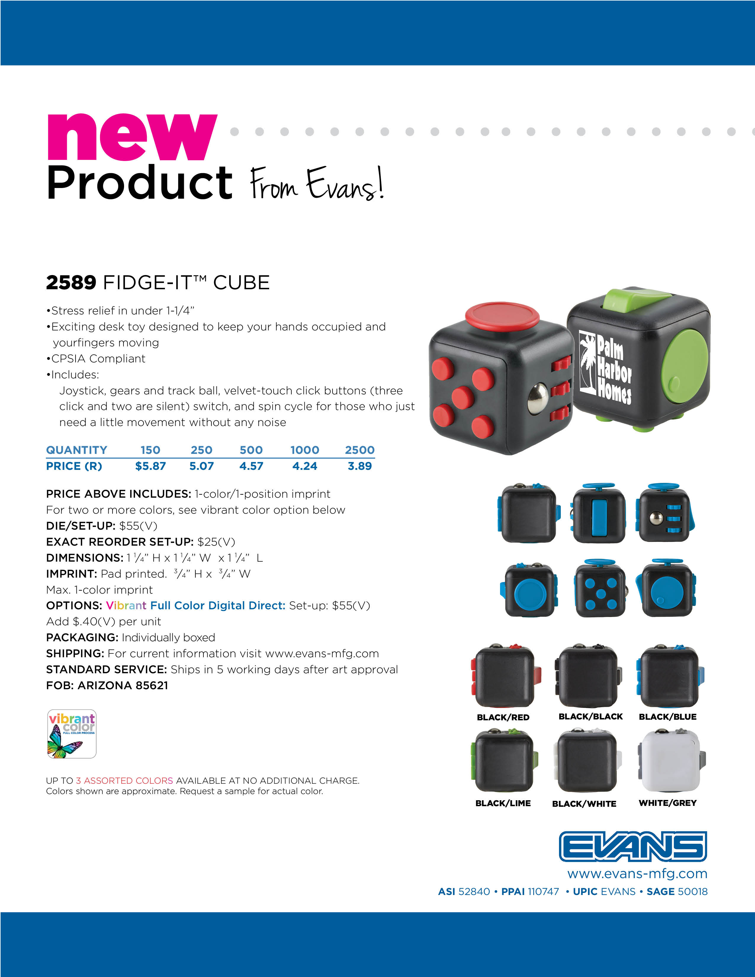 2589 Fidge-It Cube
