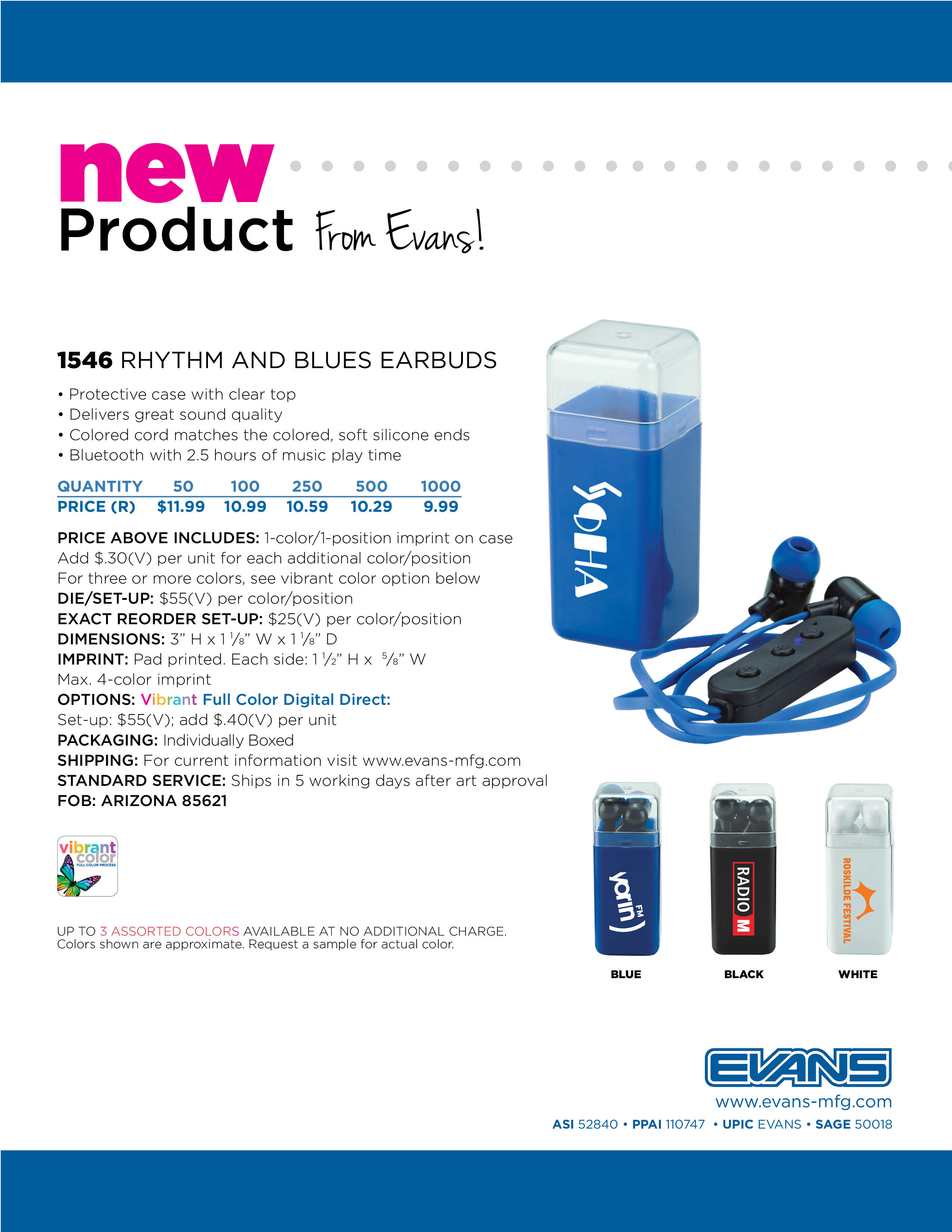 1546 Rhythm and Blues Earbuds
