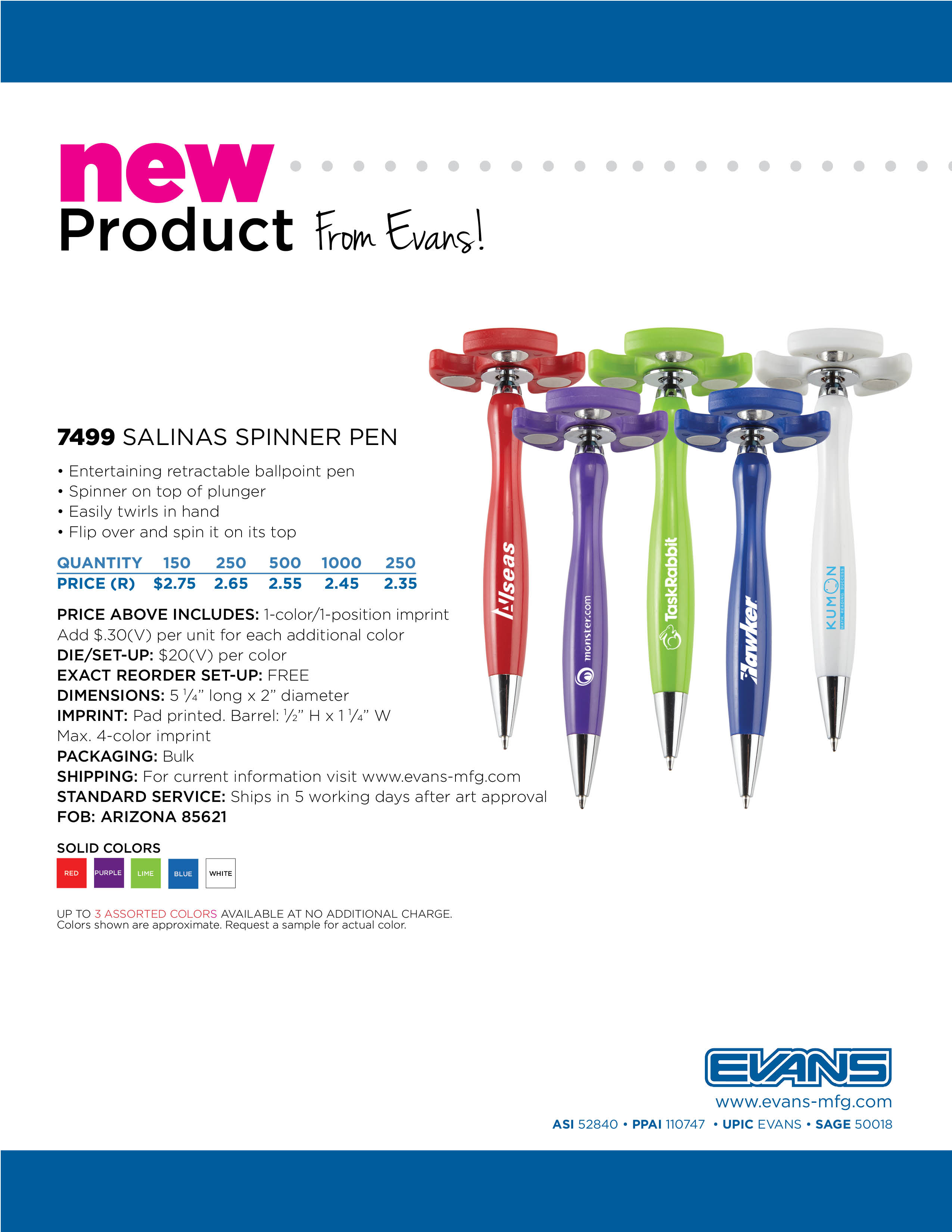 7499 Salinas Spinner Pen