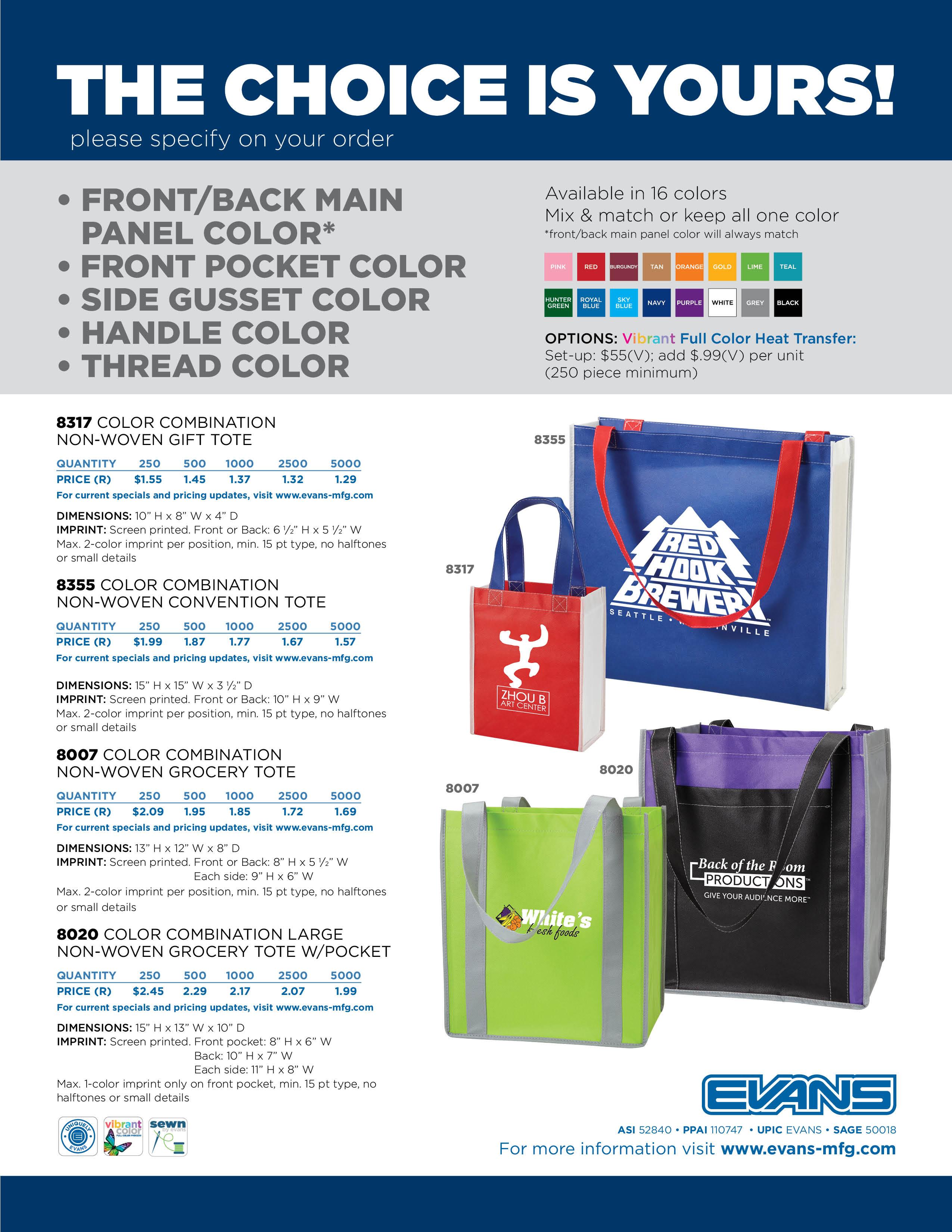 Color Combination Bag Flyer
