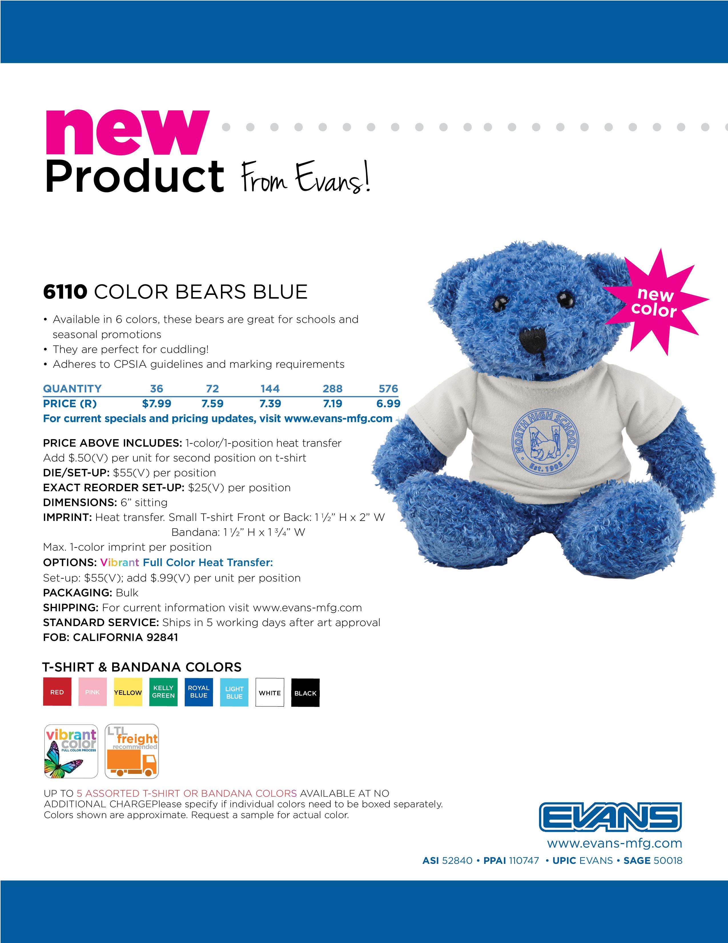 6110 Color Bears Blue