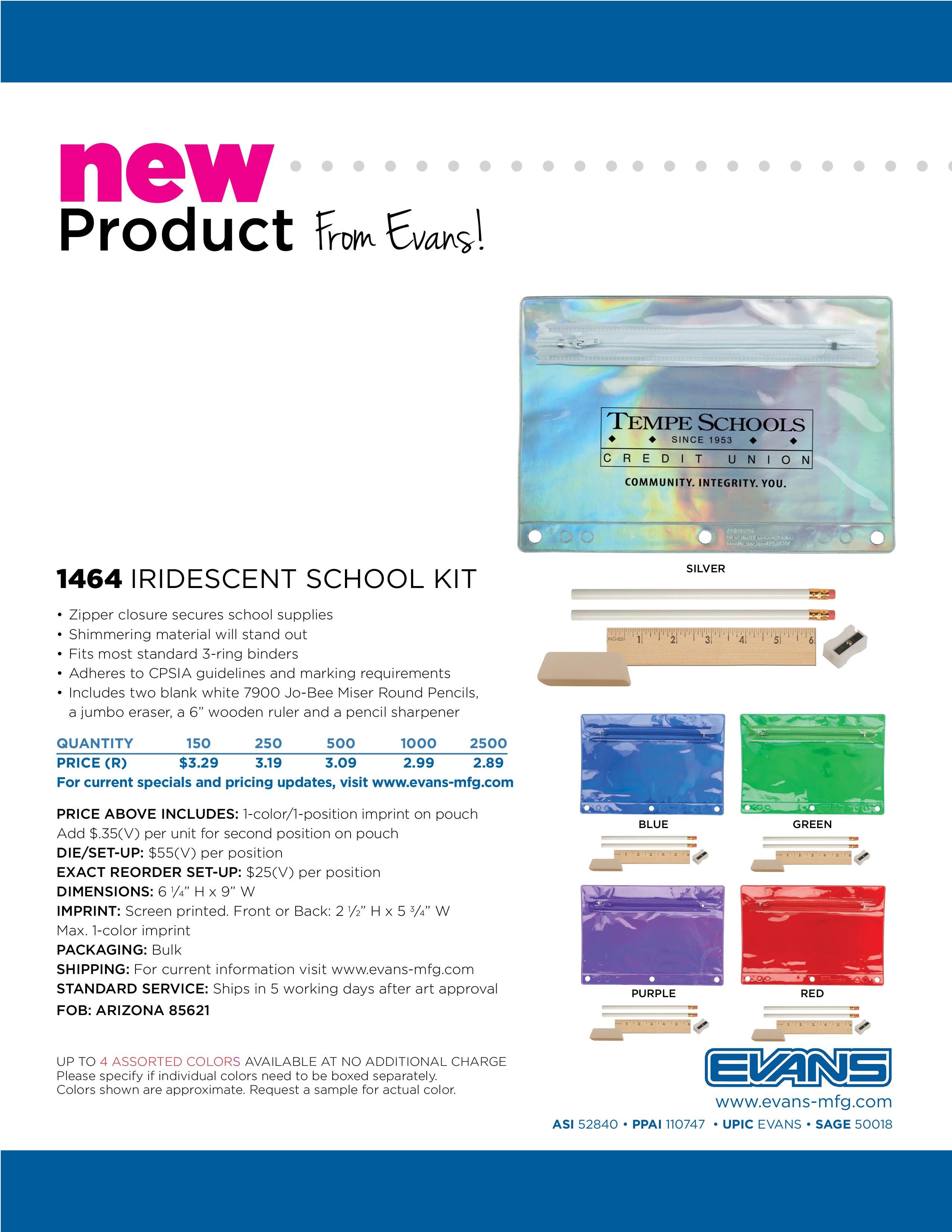 1464 Iridescent School Kit