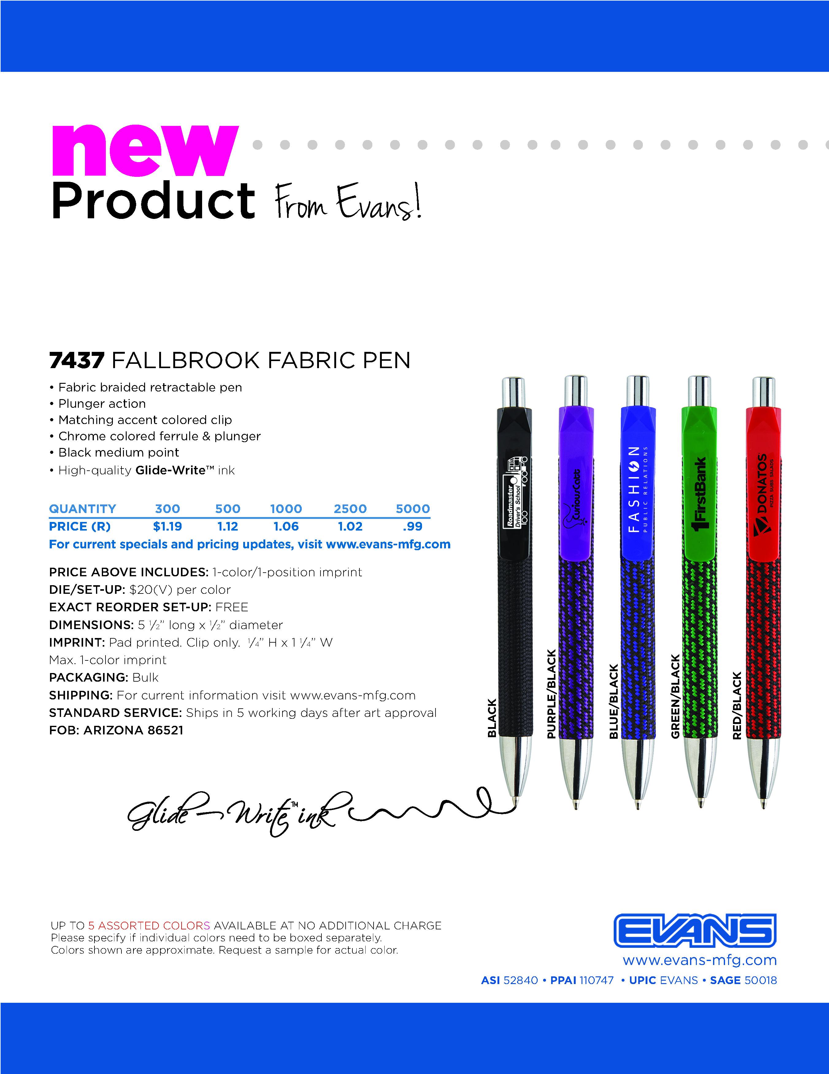 7437 Fallbrook Fabric Pen