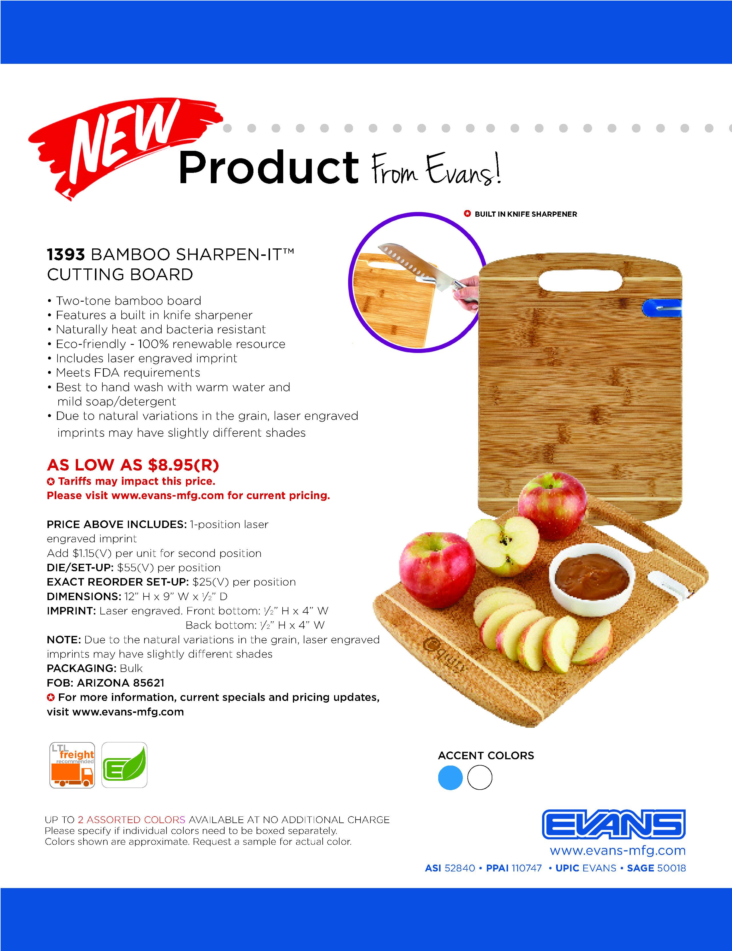 1393 Bamboo Sharpen-It™ Cutting Board