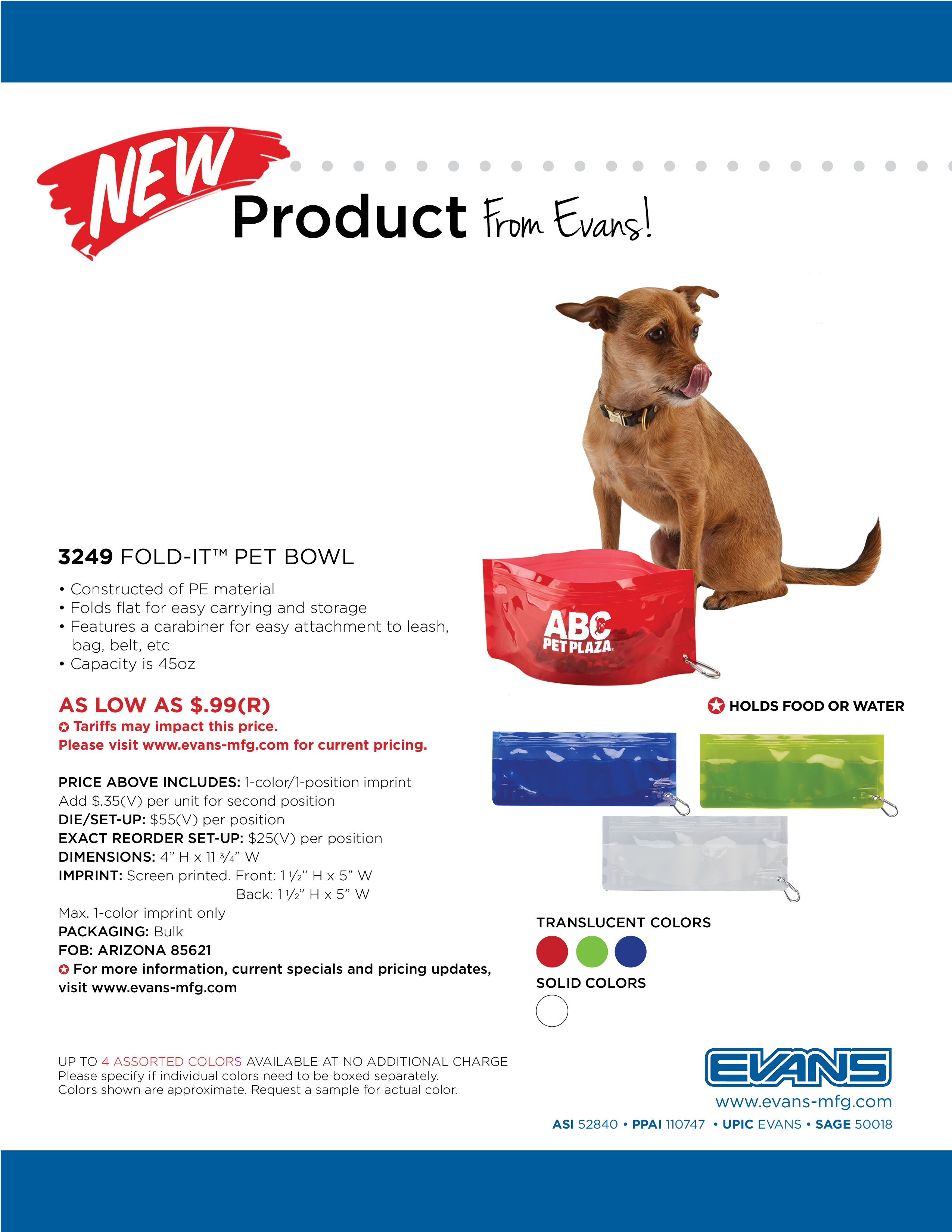 3249 Fold-It™ Pet Bowl