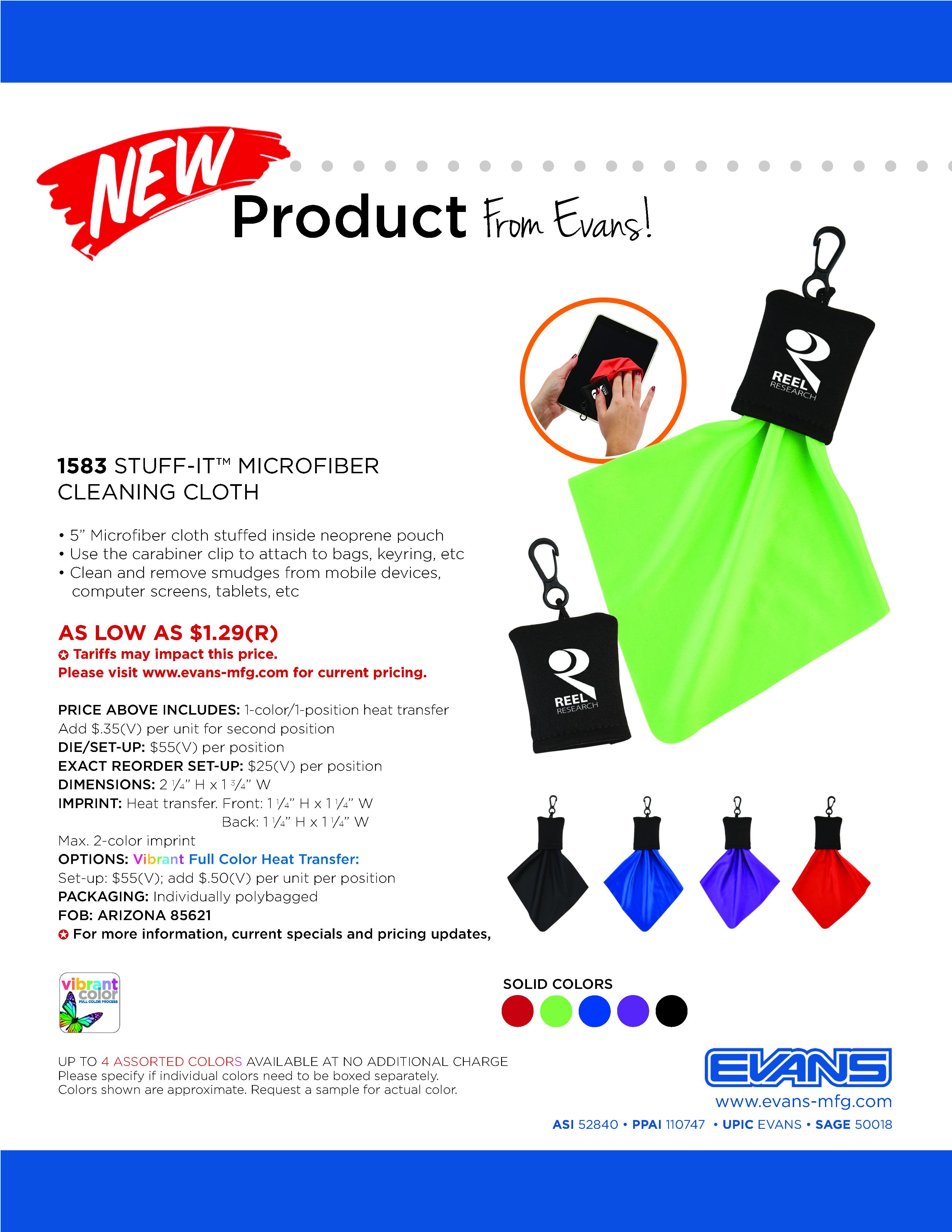 1583 Stuff-It™ Microfiber Cleaning Cloth