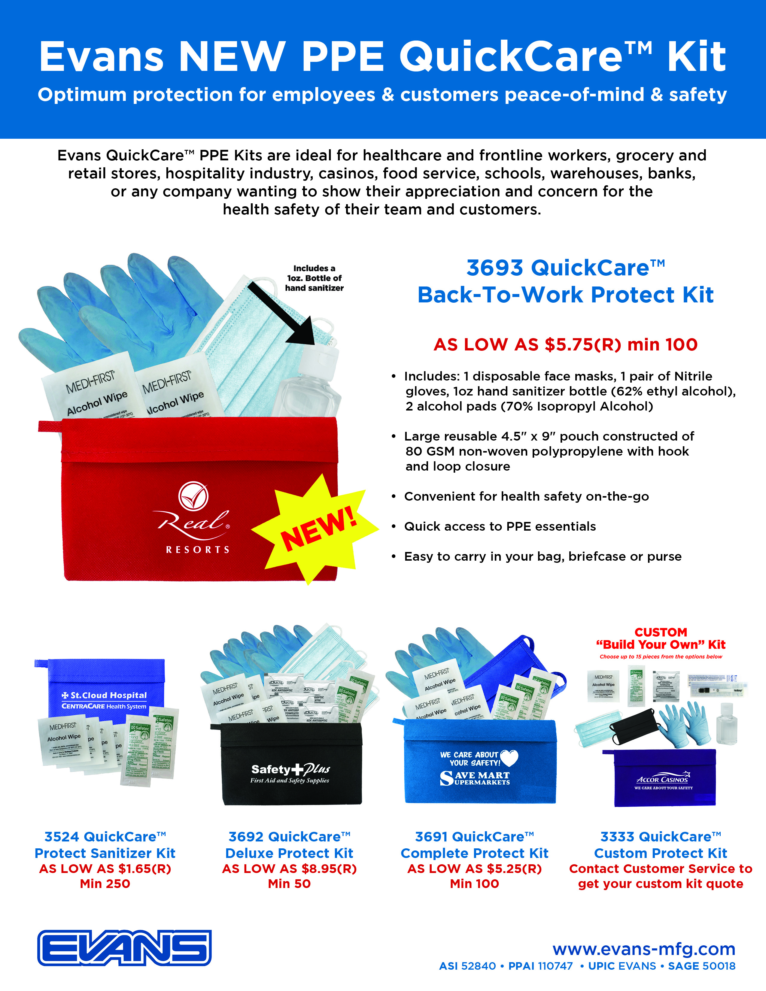 QuickCare kits