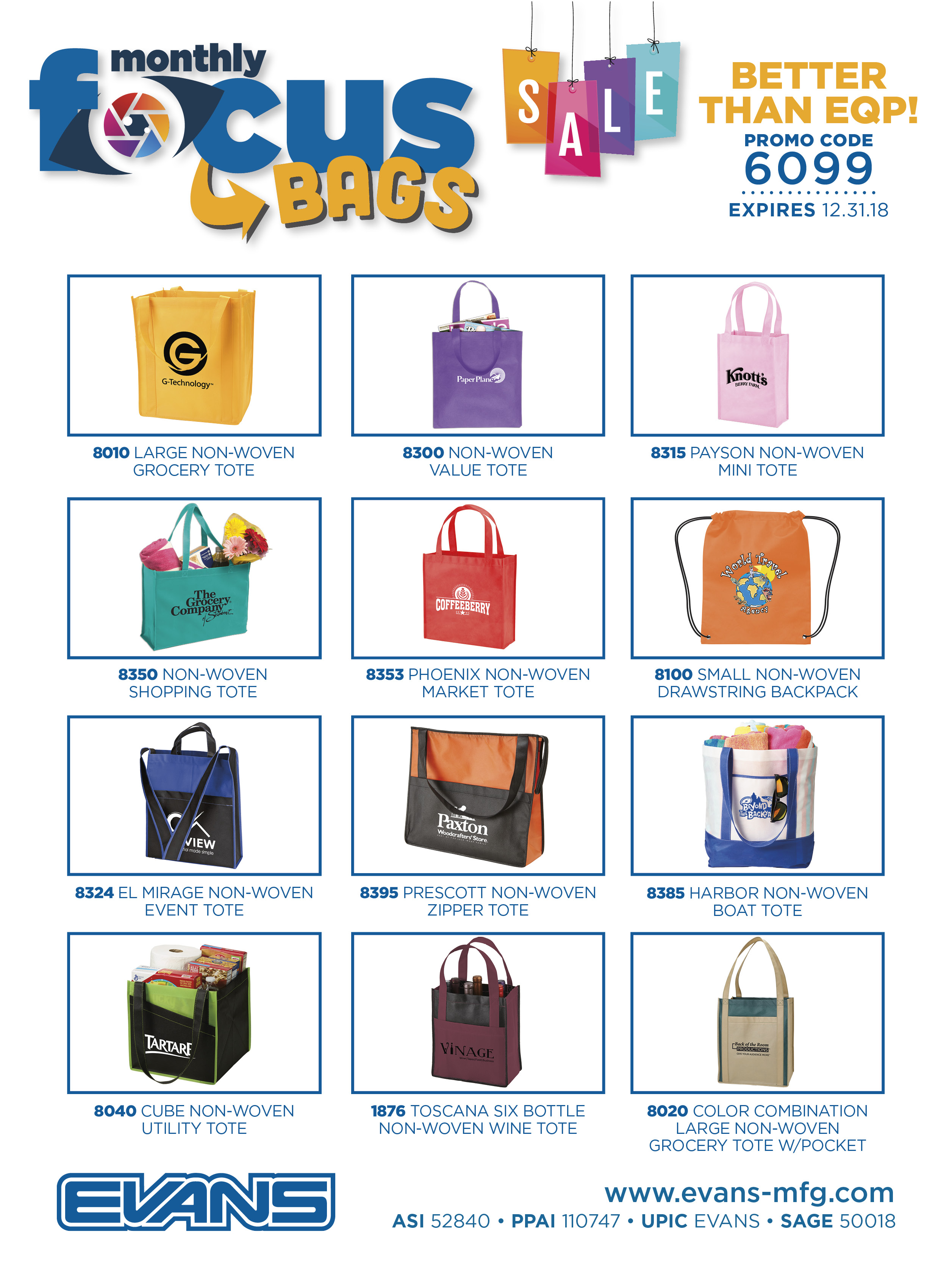 Evans Manufacturing Promotional Products Supplier